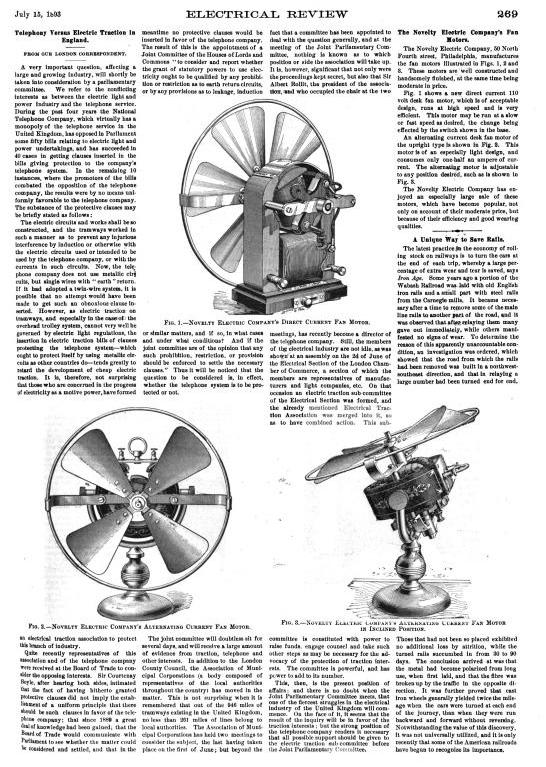 Direct Current Fan : Novelty direct and alternating current fan motors pre