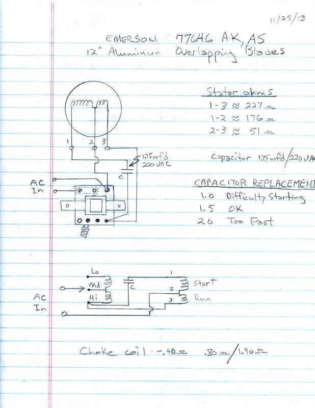 Emerson 77646 capacitor - Pre-1950 (Antique) - Antique Fan ... on