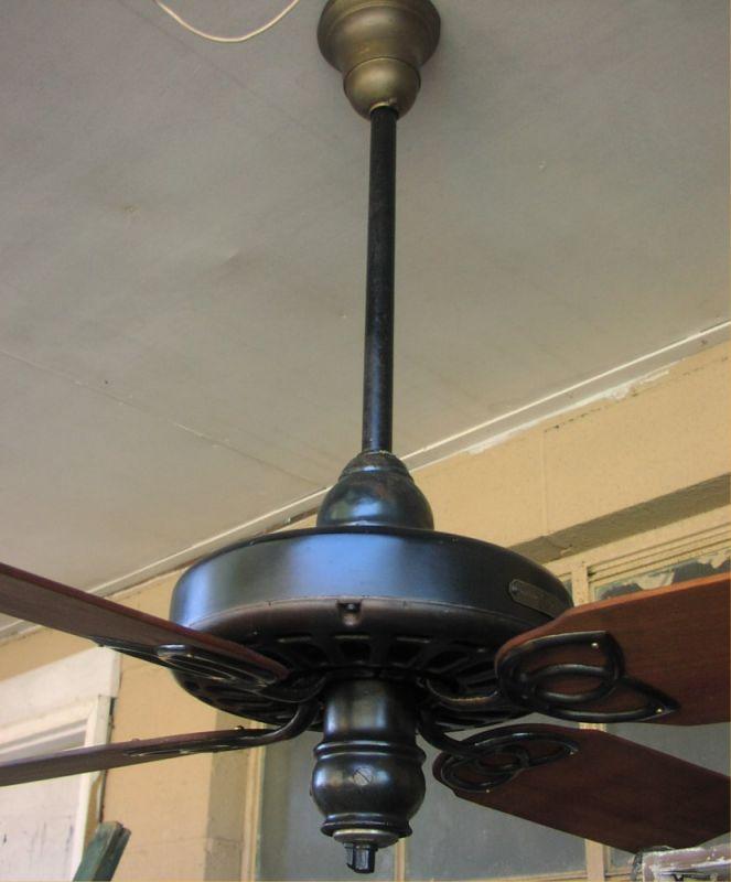1930s Decor Ceiling Fan Alternating Current Fan Motor Vintage Ceiling Fan Made In USA 0152JW 1930s Ceiling Fan General Electric Co