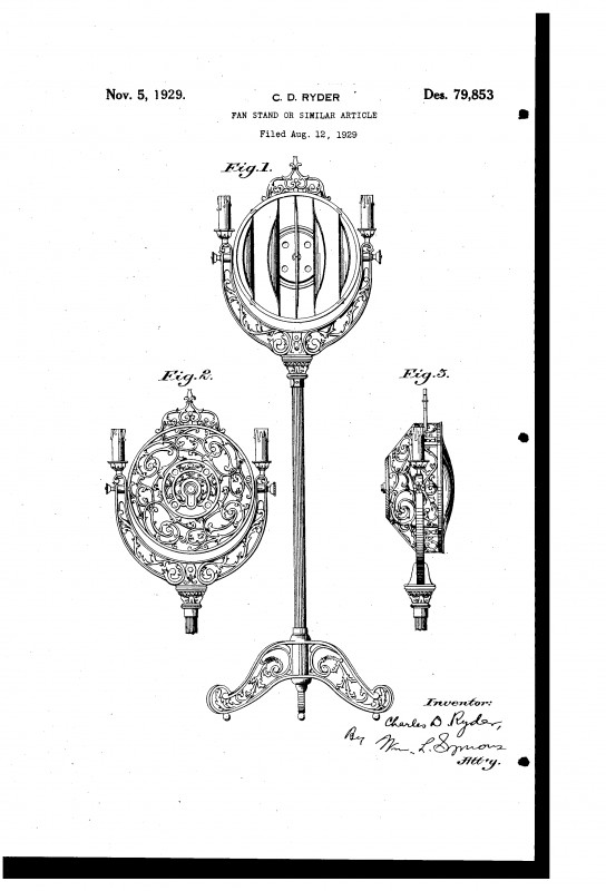 cast iron cage pedestal fan - pre-1950  antique