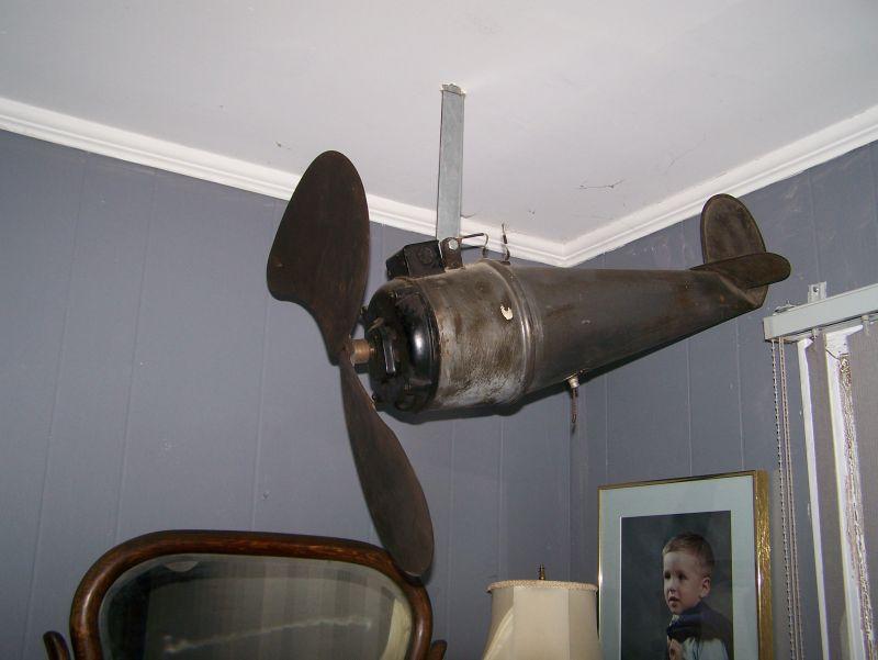 Airplane Ceiling Fan : Dallas airplane fan pre antique