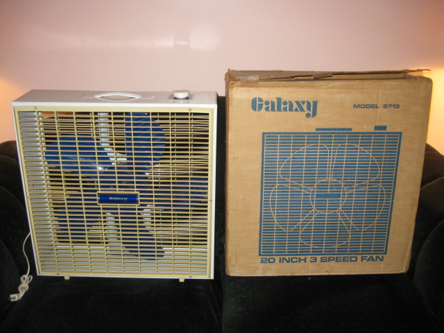 Galaxy Box Fan : Galaxy quot box fan post vintage antique