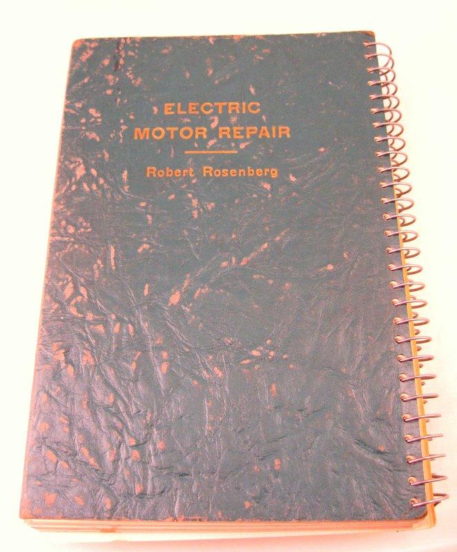 Electric motor repair book for sale buy sell trade for Antique electric motor repair