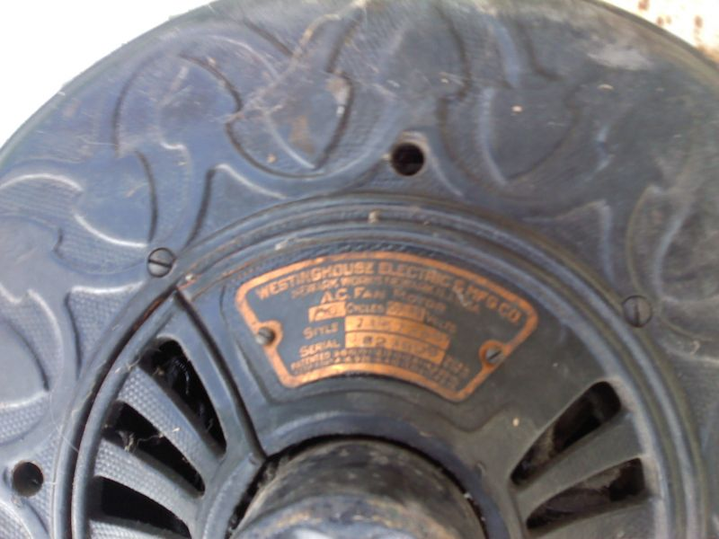 Westinghouse Sidewinder Ceiling Fan Pre 1950 Antique