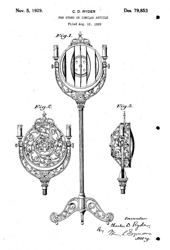 1920 u2019s victor pedestal brass floor fan w   lights - pre-1950  antique