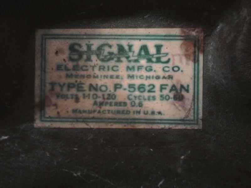 Signal Cool Spot 8 Quot Oscillating Pedestal Fan Post 1950