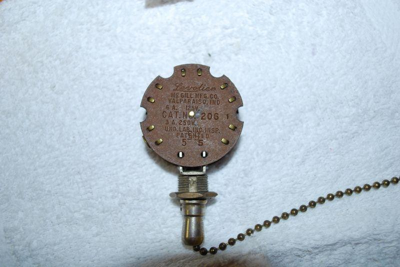 Vintage Fan Switch : Levolier switch pre antique fan