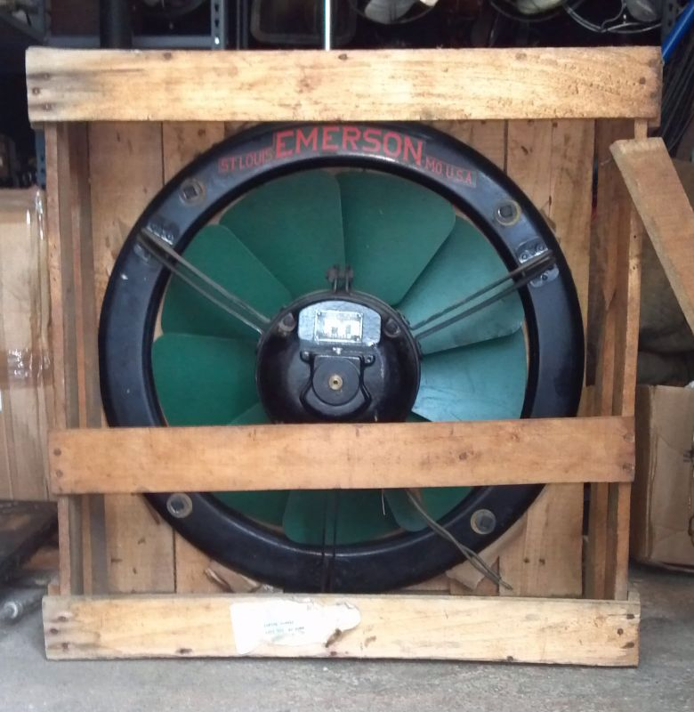 New Old Stock Emerson Ventilating Fan In Crate Pre 1950