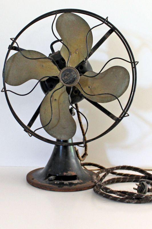 Emerson Desk Fan : Emerson desk fan model pre antique