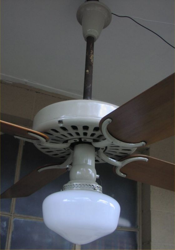 60s Hunter 22046 Ceiling Fan Post 1950 Vintage