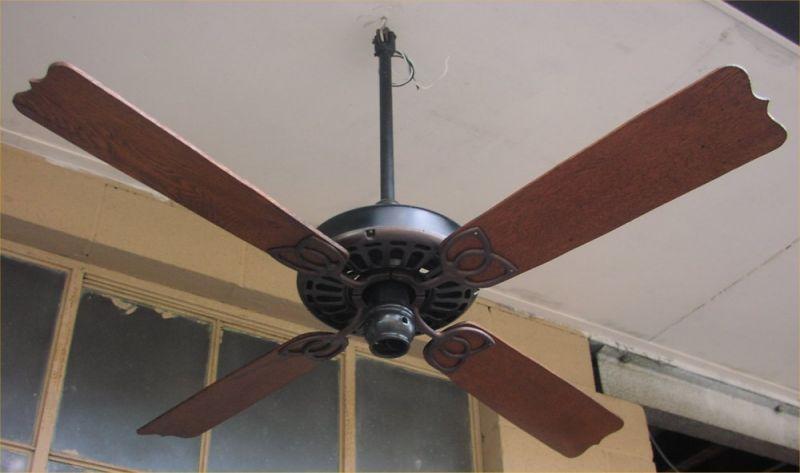 C1910 Ge Ceiling Fan Pre 1950 Antique Antique Fan