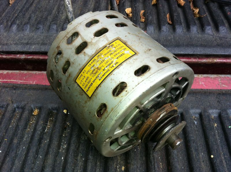 Motor Replacement For Hunter Whole House Fan Post 1950
