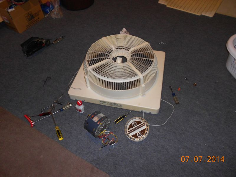 Sears Whole House Window Fan Post 1950 Vintage