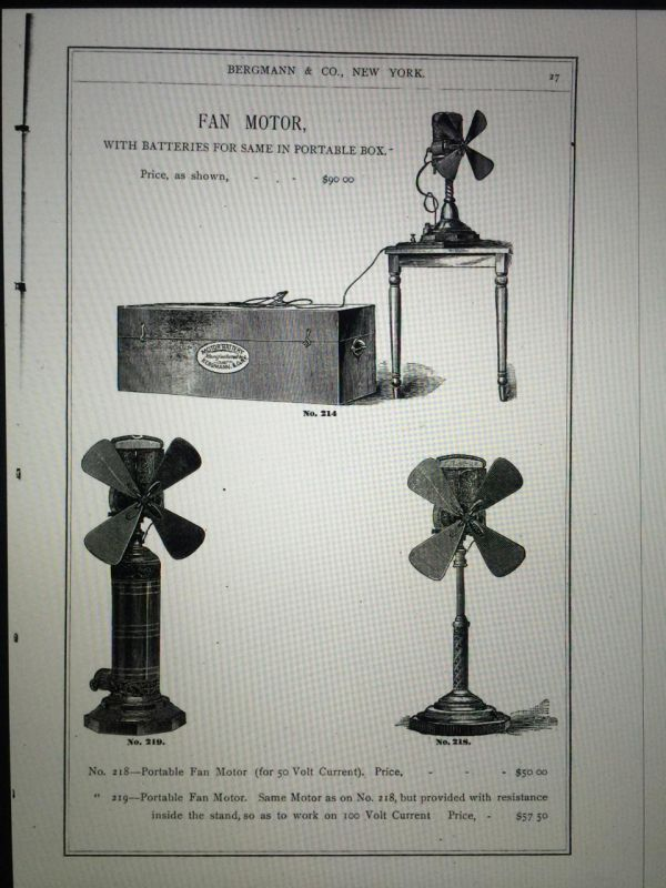 What Was The First Electric Fan : The first electric fan pre antique