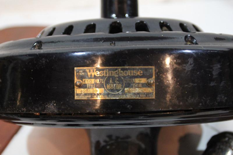 Westinghouse Ceiling Fan Disassembly Pre 1950 Antique