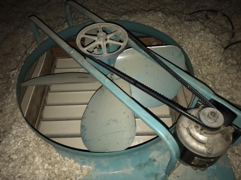 Emerson Electric Attic Fan 50s Era Squeak Issue And