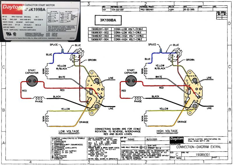 dayton electric motors wiring diagram  industrial