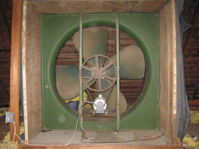 American Blower Attic Fan Post 1950 Vintage Antique