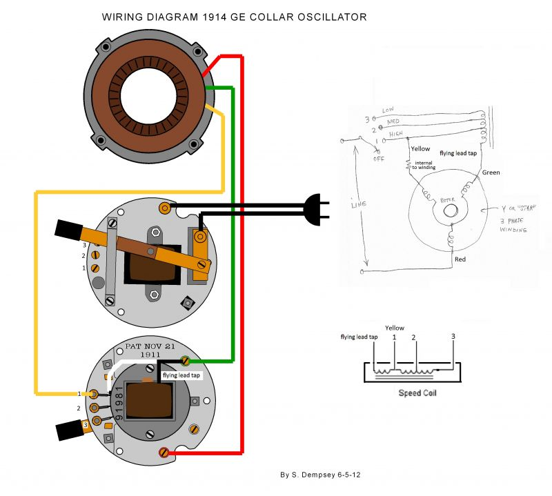 [TBQL_4184]  Wiring Diagram 1914 GE Collar Oscillator - Pre-1950 (Antique) - Antique Fan  Collectors Association - AFCA Forums | Desk Fan Motor Wiring Diagram |  | AFCA Forums