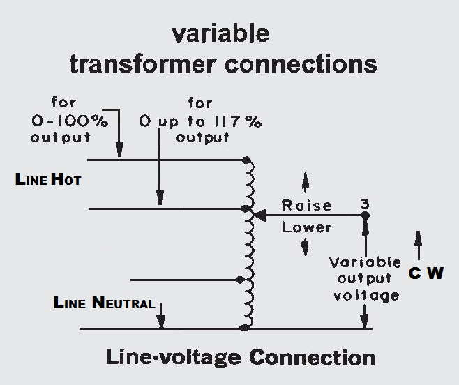 overhead transformer wiring diagram help - how to wire variac type device??? - pre-1950 ...
